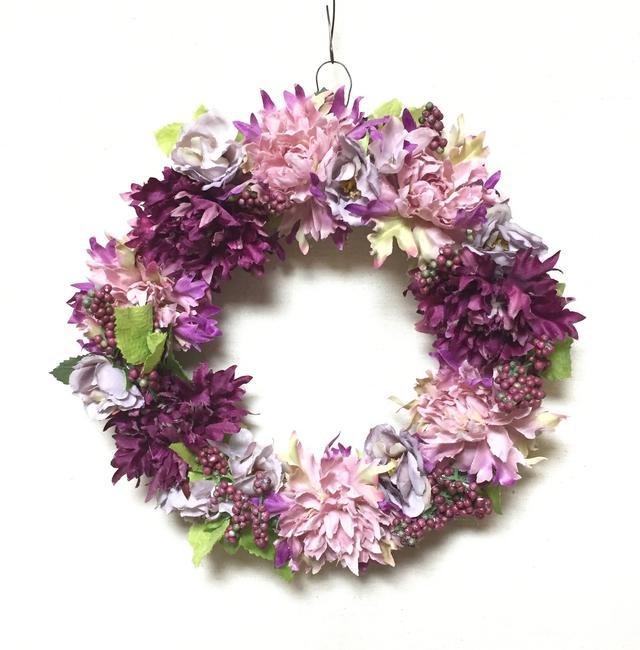 ワインローズのお花のリース