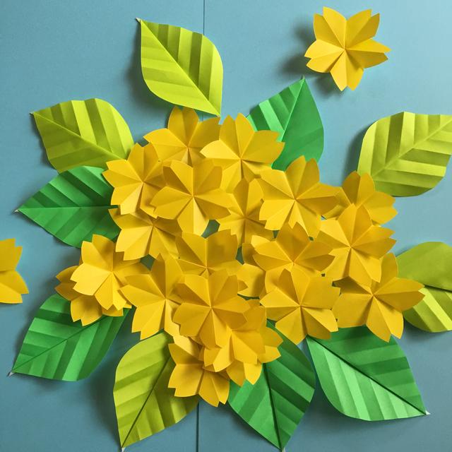 クリスマス 折り紙 折り紙 お花 : minne.com