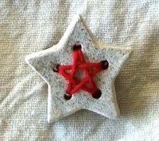 【陶土】糸の星ブローチ*星形