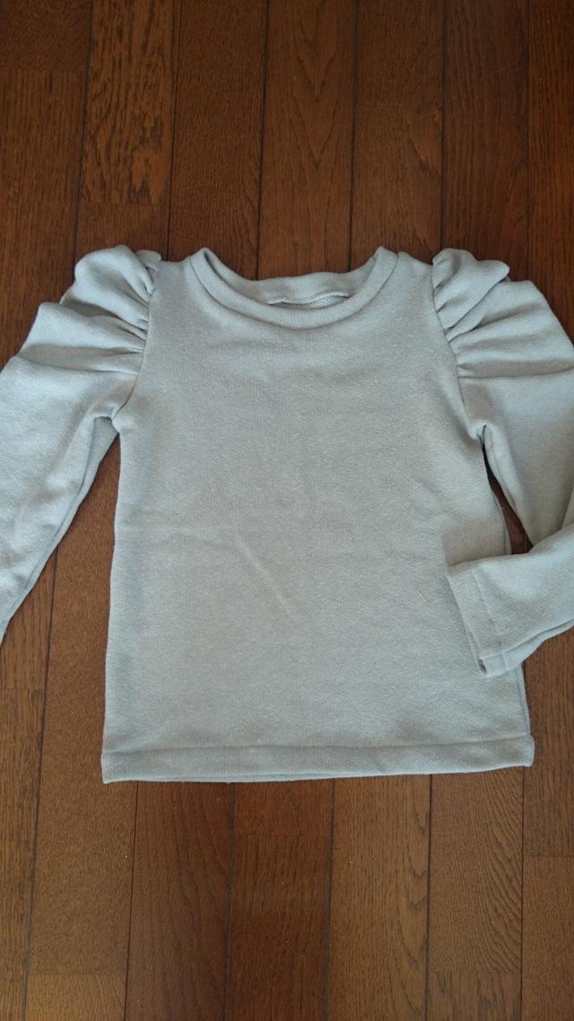 乙女ギャザースリーブTシャツ 110