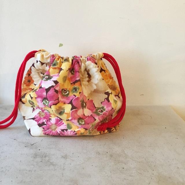 ふんわり春色の巾着袋(046)