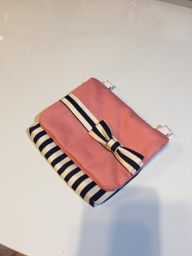 移動ポケット【ストライプ ピンク】