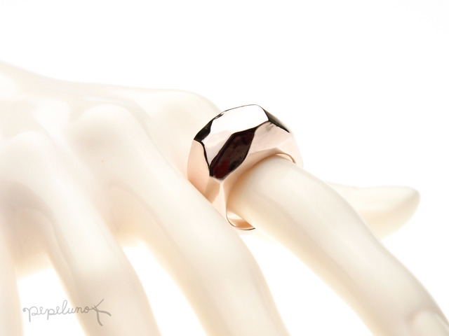 PinkSilver 磨かれた重たすぎる指輪