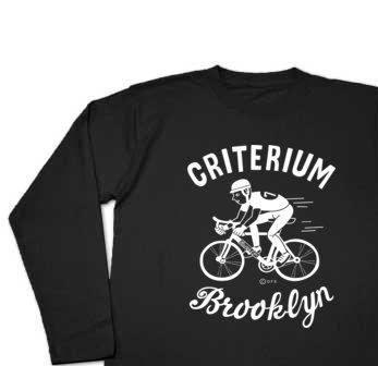 ブルックリン★自転車レース 長袖Tシャツ【受注生産品】