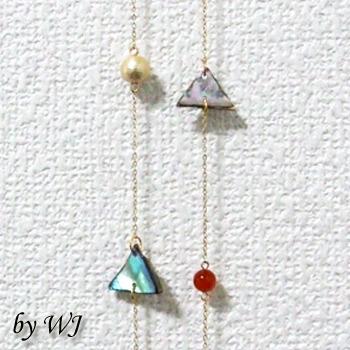 メキシコと天然石のネックレス(メノウ)