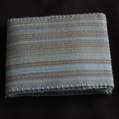 和風布製手縫い小銭入れ(ベージュ)