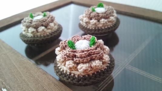 チョコクリームたっぷりのタルトマグネット