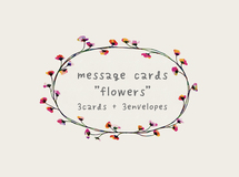 "message cards ""flower"" <light gray>"