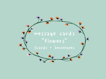 "message cards ""flower"" <blue green>"