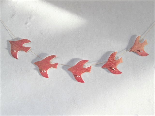 水晶と鳥のガーランド3