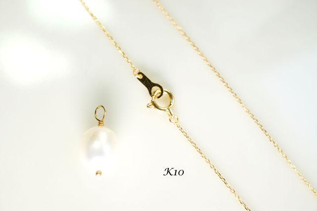 K10】40cmネックレス販売ページ★パールチャーム付き