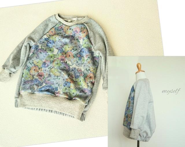 【size100】お花のプルオーバー