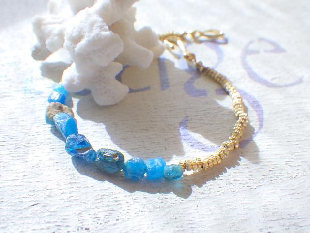 ☆再販☆ 地中海ブレス Roman Glass S...