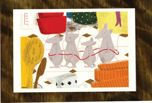夜のさんぽ(ポストカード2枚セット)008