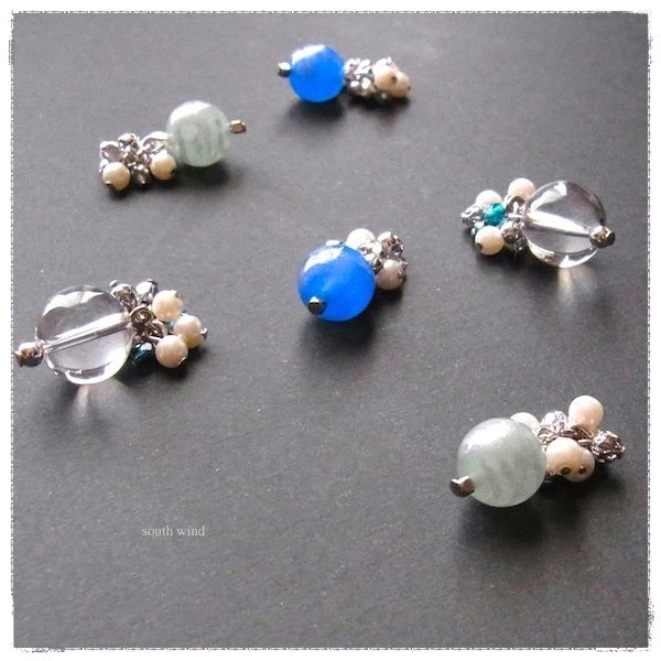 【Planet & Star bubble】 のピアス(Blue)