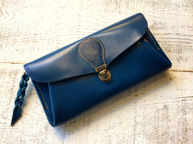 【即納品可能】長財布 「series-envelope」マリンブルー