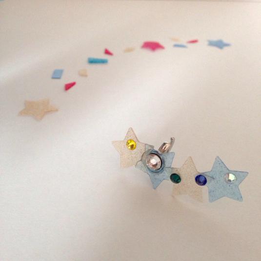 星型レジンチップのイヤーカフ【右耳用】