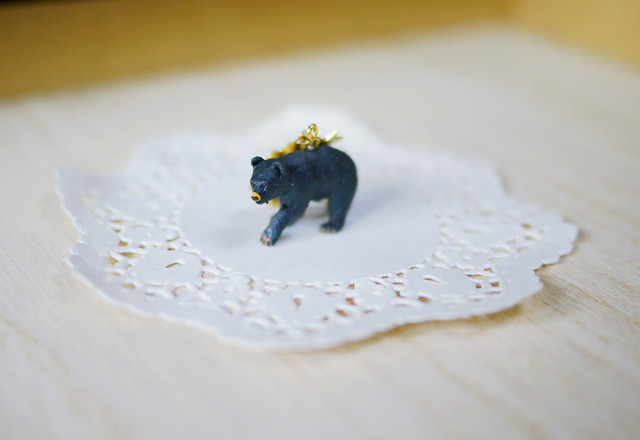 (Sold out)animal片耳ピアス【Bear】