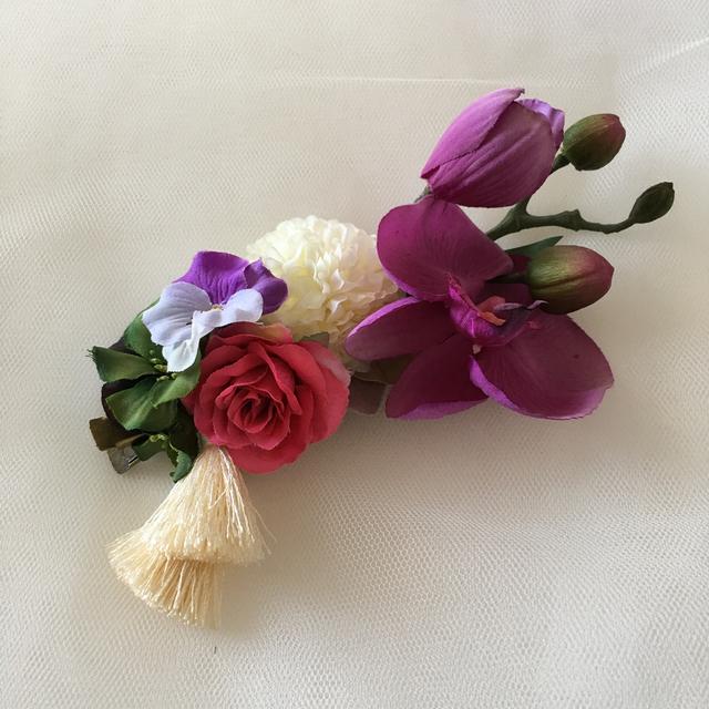 胡蝶蘭のバレッタ