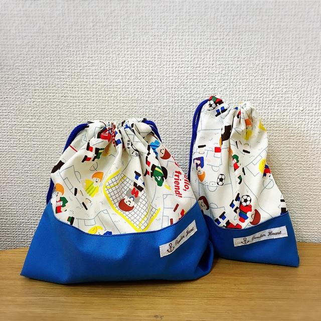 サッカー少年☆お弁当袋・コップ袋セット