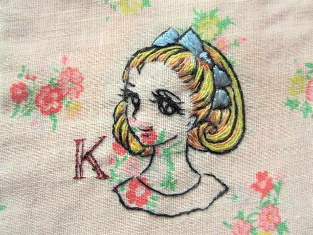 Kと昭和の少女 イニシャルポーチ