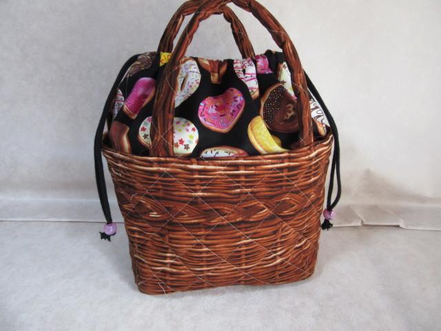 なんちゃって籠バッグ(チョコレートドー...