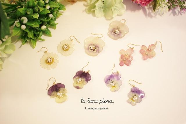◇k14gf◇春を待つお花畑ピアス(イヤリ...