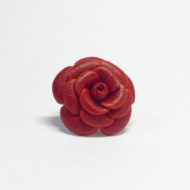 【 牛革 】革の花  Lサイズ  ブートニエール(15色)