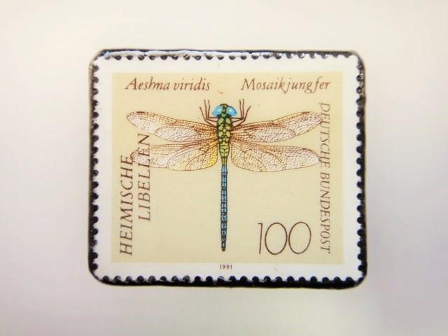 ドイツ トンボ切手ブローチ 2212