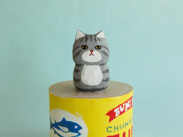 木彫り人形  グレートラ猫  [MWF-059]