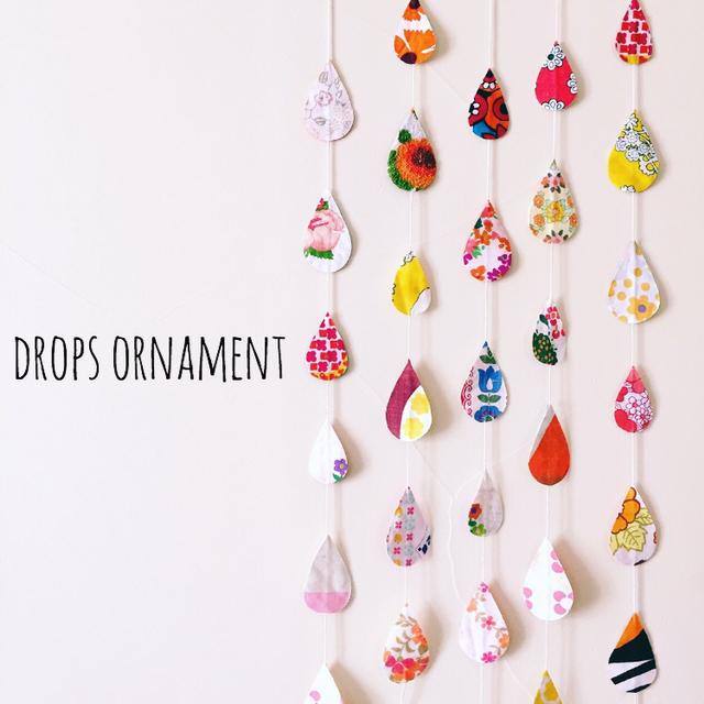 Drops ornament *あったかさん*(しずく...