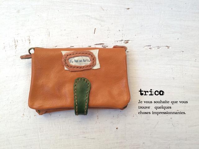お財布カードケース(オレンジキャメル)