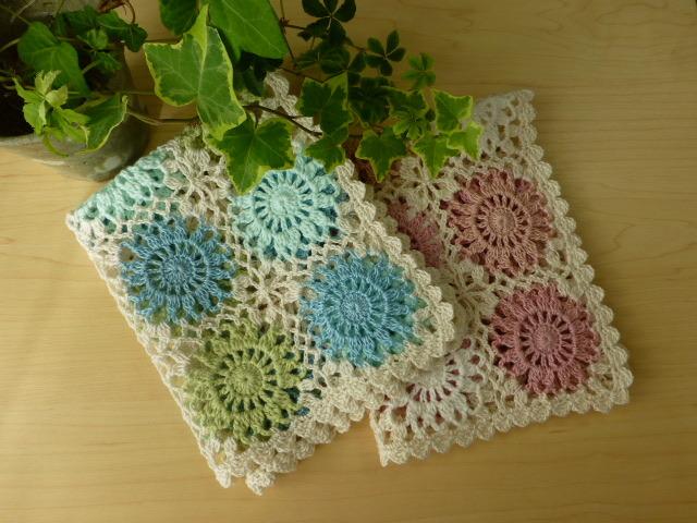 モチーフ編み小物カバー