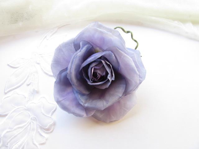 Lavender mauve~薔薇のコサージュ