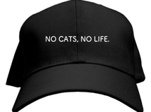 NO CATS, NO LIFE. CAP