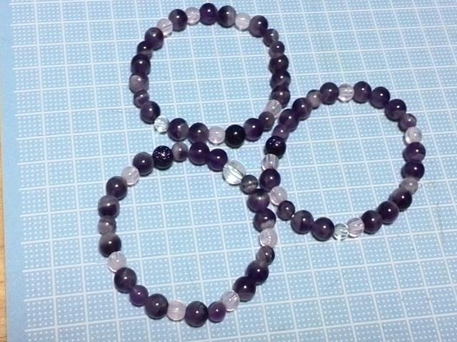 天然石のブレスレット*紫*