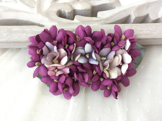 Heart shaped clip/violets