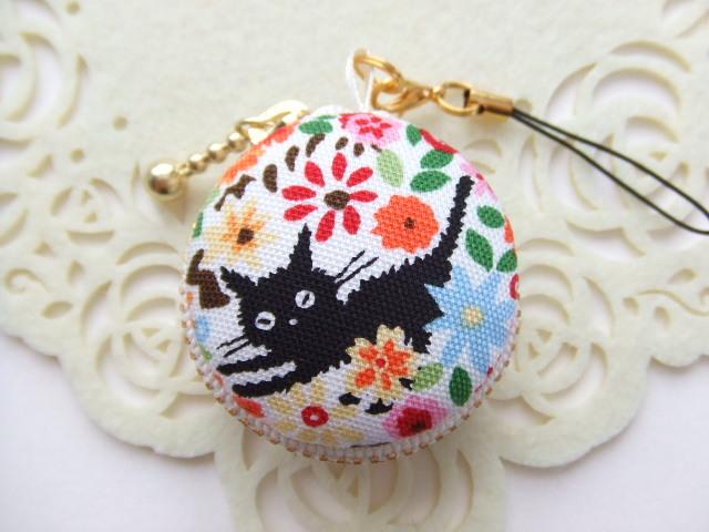 黒猫&花10/マカロンコインケース(マカ...