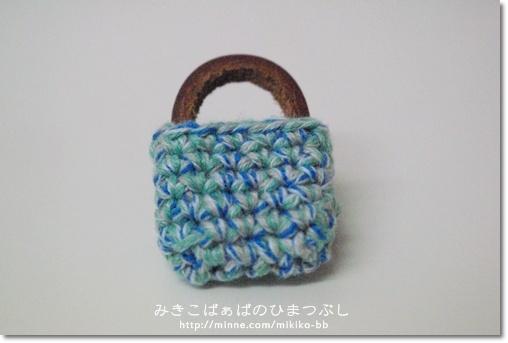 【sale!】041:かばんブローチ*青【送料無料】