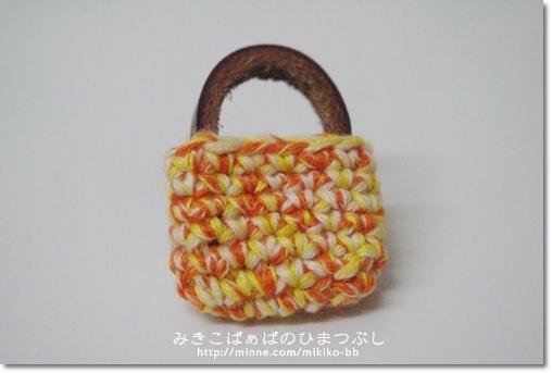 【sale!】042:かばんブローチ*黄【送料無料】