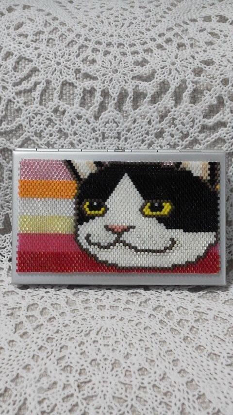 カードケース(目力がすごいネコ)