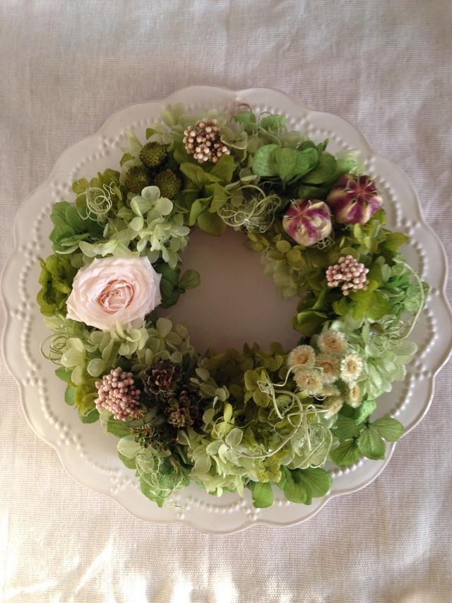 一輪バラのgreen wreath