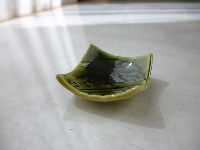 ミニチュア陶器☆和食器☆ 織部草花 ...