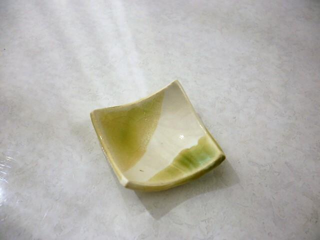 ミニチュア陶器☆和食器☆ 緑釉掛けわ...