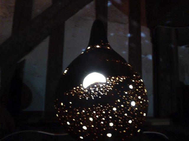 ひょうたんランプ 宇宙なモチーフ 単4...