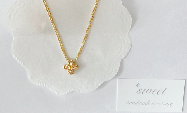 mini  flower necklace*