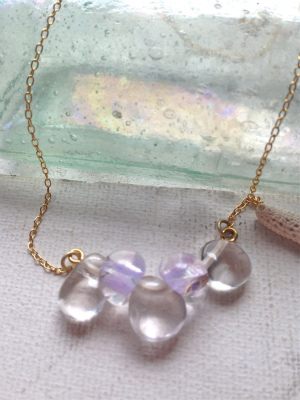 tear drops necklace (lavender)