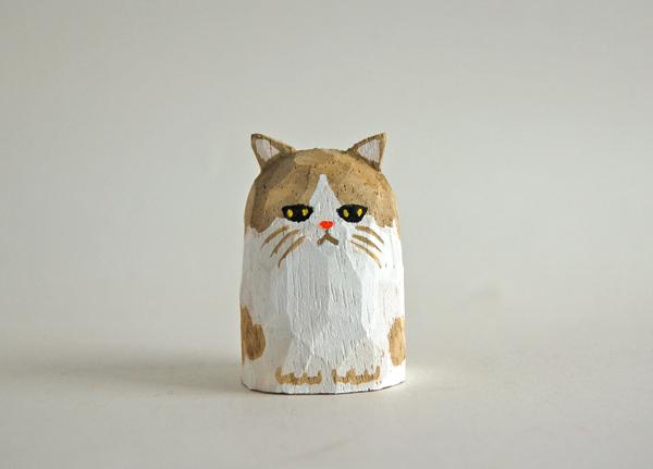 木彫り人形ねこ ペルシャ [MWF-289]