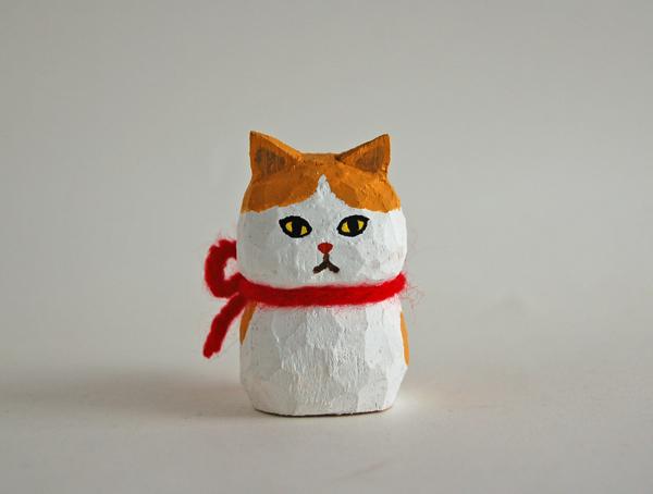 木彫り人形ねこ ペルシャ [MWF-290]