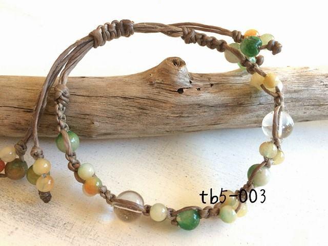 tb5-003\t天然石ブレス?\t水晶\t 2トー...